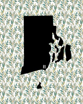 Rhode Island Vintage State Map or Poster Class Decor Decoration