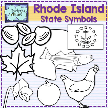 Rhode Island state symbols clipart