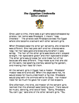 Rhodopis the Egyptian Cinderella