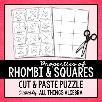Rhombi and Squares Puzzle