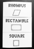 Rhombus, Rectangle, Square (Geometry Foldable)