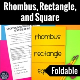Rhombus Rectangle and Square Foldable