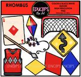 Rhombus Shapes Clip Art Bundle {Educlips Clipart}