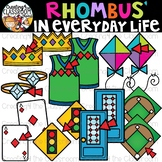 Rhombus in Everyday Life Clipart {Rhombus in real life Clipart}