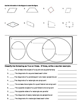 Geometry Guided Notes: Rhombuses, Rectangles, and Squares