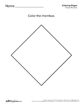 Rhombuses: Tracing and Coloring