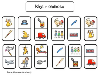 Rhym-ominoes Short a and e {Freebie Sampler}