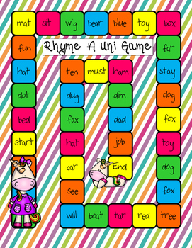 Rhyme A Uni Game
