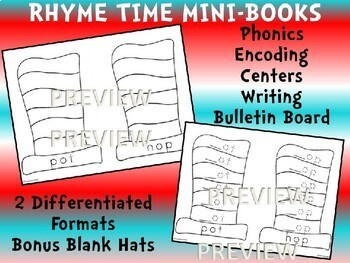 Rhyme Across America for Dr. Seuss' Birthday -Writing Center Word Work Phonics