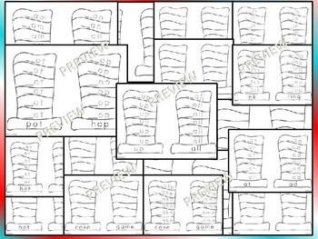 Rhyme Across America - Writing Center Word Work Phonics Kindergarten 1st