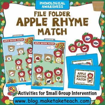 Rhyme - Apple Themed File Folder Activity
