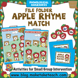 Rhyme - Apple Themed File Folder Activity