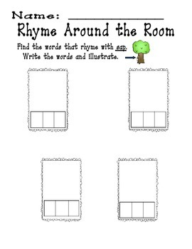 Rhyme Around the Room Short a