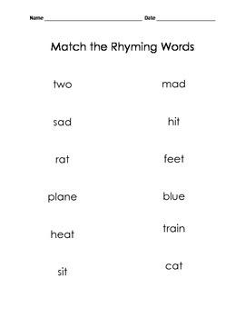 Rhyme Assessment