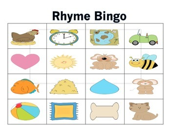 Rhyme Bingo