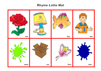 Rhyme Bingo Game & Information For Teachers or Parents - Phonological Awareness