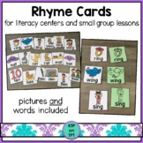 Rhyme Cards for Small Group Lessons and Literacy Centers