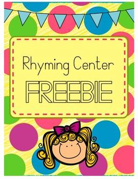 Rhyming Sort Center FREEBIE!