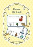 Rhyme Clip Cards