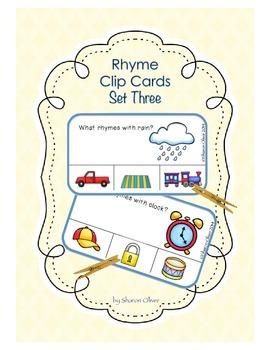 Rhyme Clip Cards - Set Three