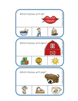 Rhyme Clip Cards - Set Two