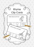 Rhyme Clip Cards - black line