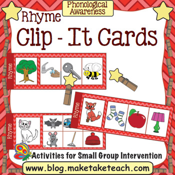 Rhyme - Clip It Cards