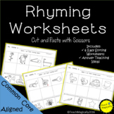 Rhyming Worksheets Cut and Paste No Prep Fun