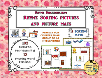 Rhyme Sorting Pictures and Picture Mats