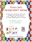 Rhyme-Don't Rhyme Picture Sort
