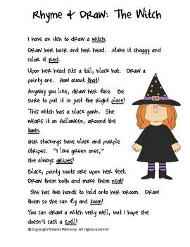 Rhyme & Draw Freebie:  The Witch