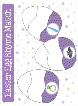 Rhyme - Easter Egg File Folder Rhyme Match
