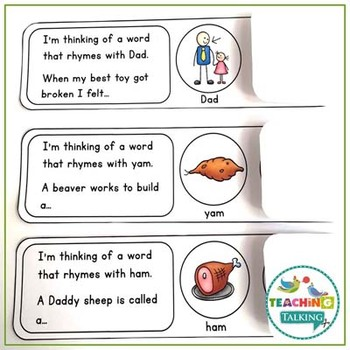 Rhyming Words Foldover Activity