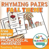 Fall Rhyming Activity