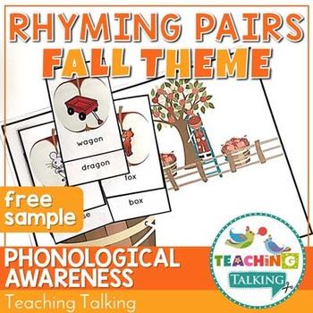 Fall Rhyming Activity