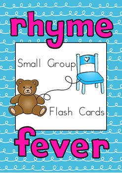 Rhyme Generating Flash Cards Small Group