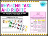 Rhyme Identification & Production Portfolio Task & Rubric