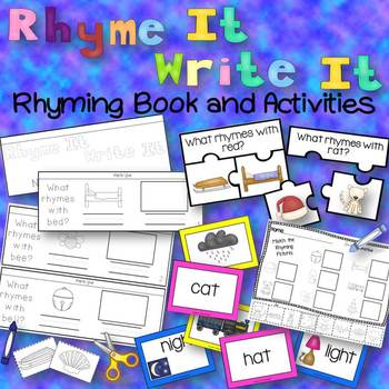 Rhyme It Write It Center Rhyming Book and Activities