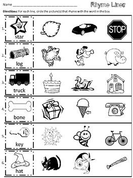 Kindergarten Rhyming Worksheets Cut And Paste Worksheets for all ...