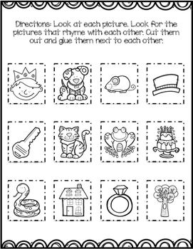 Rhyme Match and Cut and Sorts