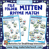 Rhyme - Mitten Themed File Folder Activity
