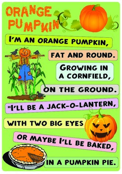 "Rhyme ""Orange Pumpkin"""