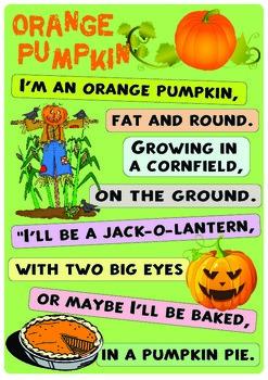 "Rhyme ""Orange Pumpkin"""