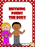 ** FREEBIE ** Rhyming POEMS. Literacy and Science!! BODY PARTS