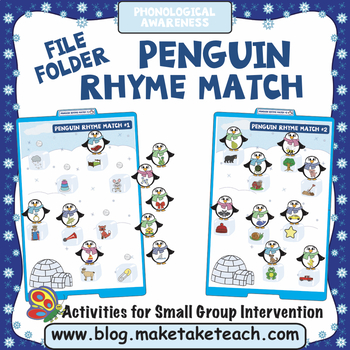 Rhyme - Penguin Themed File Folder Activities
