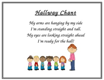 Poem For Lining Up Amp Walking In The Hallway By Primary