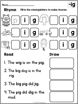 Rhyme, Read, & Draw - NO PREP - Differentiated