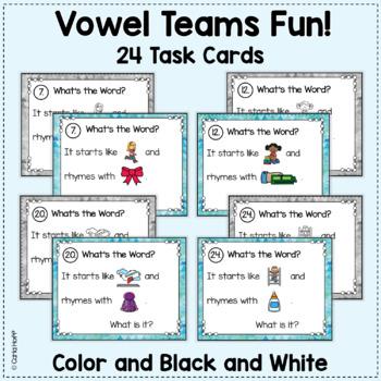 Rhyme & Rebus Word Puzzles - Vowel Teams
