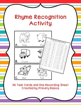 Rhyme Recognition Activity