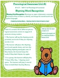 Rhyme Recognition P.A.S.T. Phonological Awareness Assessme